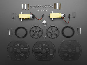 Mini 3-Layer Round Robot Chassis Kit - 2WD with DC Motors