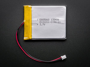 Lithium Ion Polymer Battery - 3.7v 2500mAh - Chicago Electronic Distributors  - 2