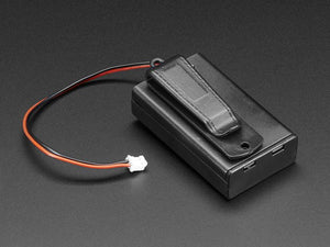 3 x AAA Battery Holder with On/Off Switch, JST, and Belt Clip - Chicago Electronic Distributors