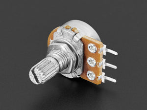 Panel Mount 10K Log Potentiometer (Breadboard Friendly) - 10K Log