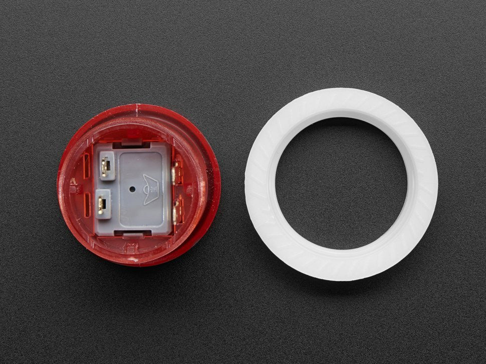 Mini LED Arcade Button - 24mm Translucent Red