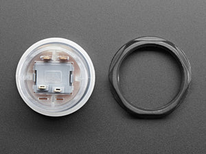 Arcade Button with LED - 30mm Translucent Clear