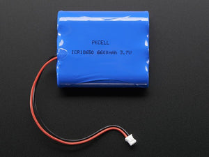 Lithium Ion Battery Pack - 3.7V 6600mAh - Chicago Electronic Distributors