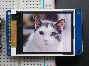 "1.8"" 18-bit color TFT LCD display with microSD card breakout - ST7735R"