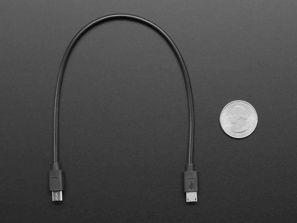 "Micro USB to Micro USB OTG Cable - 10"" / 25mm"