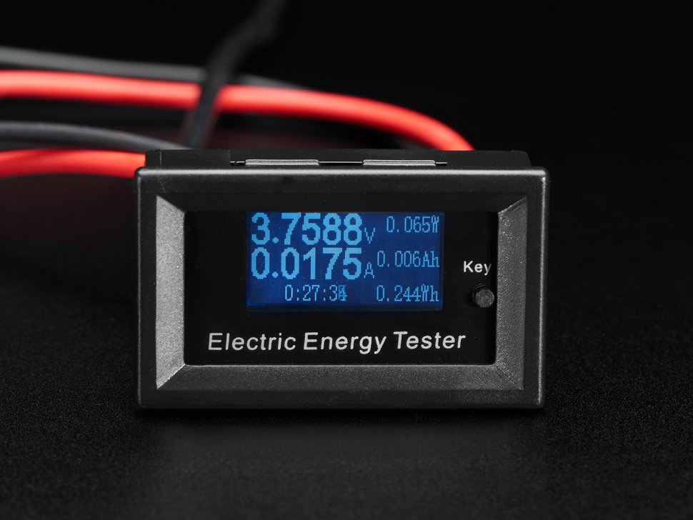Mini Power Meter with Voltage, Current, Watts, mAh & mWh Display