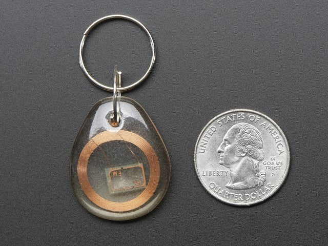 13.56MHz RFID/NFC Clear Keychain Fob - Chicago Electronic Distributors