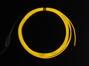 High Brightness Yellow Electroluminescent (EL) Wire - 2.5 meters - Chicago Electronic Distributors