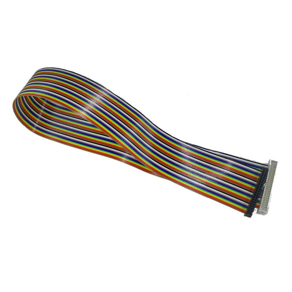 40 Way GPIO Rainbow Extender Cable - Male to Female - Chicago Electronic Distributors  - 1