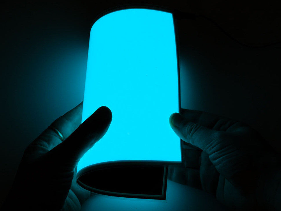 Electroluminescent (EL) Panel - 20cm x 15cm Aqua - Chicago Electronic Distributors  - 1