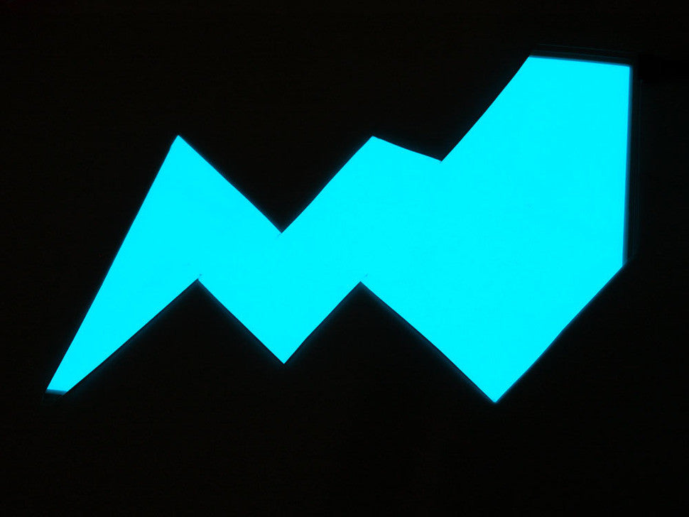 Electroluminescent (EL) Panel - 20cm x 15cm Aqua - Chicago Electronic Distributors  - 2