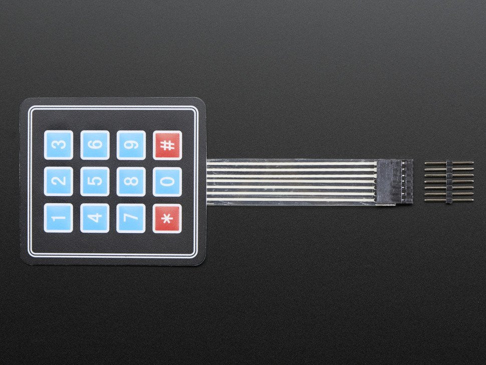 Adafruit Membrane 3x4 Matrix Keypad