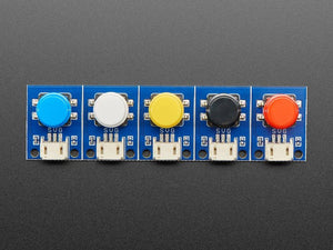 STEMMA Wired Tactile Push-Button Pack - 5 Color Pack
