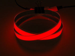 Red Electroluminescent (EL) Tape Strip - 100cm w/two connectors - Chicago Electronic Distributors