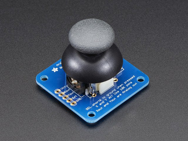 Analog 2-axis Thumb Joystick with Select Button + Breakout Board - Chicago Electronic Distributors