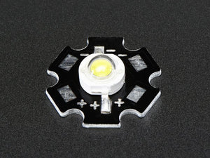 1 Watt Cool White LED - Heatsink Mounted - Chicago Electronic Distributors
