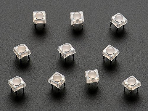 Adafruit Diffused 'Piranha' Super-flux RGB (tri-color) LED (10 pack) - Chicago Electronic Distributors