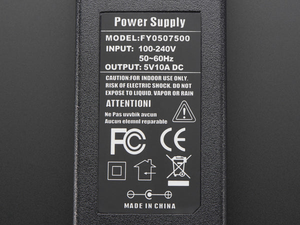 5V 10A switching power supply - Chicago Electronic Distributors  - 1