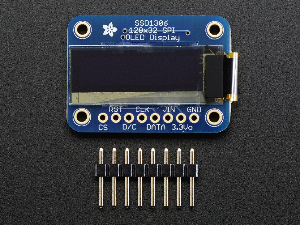 Monochrome 128x32 SPI OLED graphic display for Raspberry Pi or Arduino - Chicago Electronic Distributors  - 5