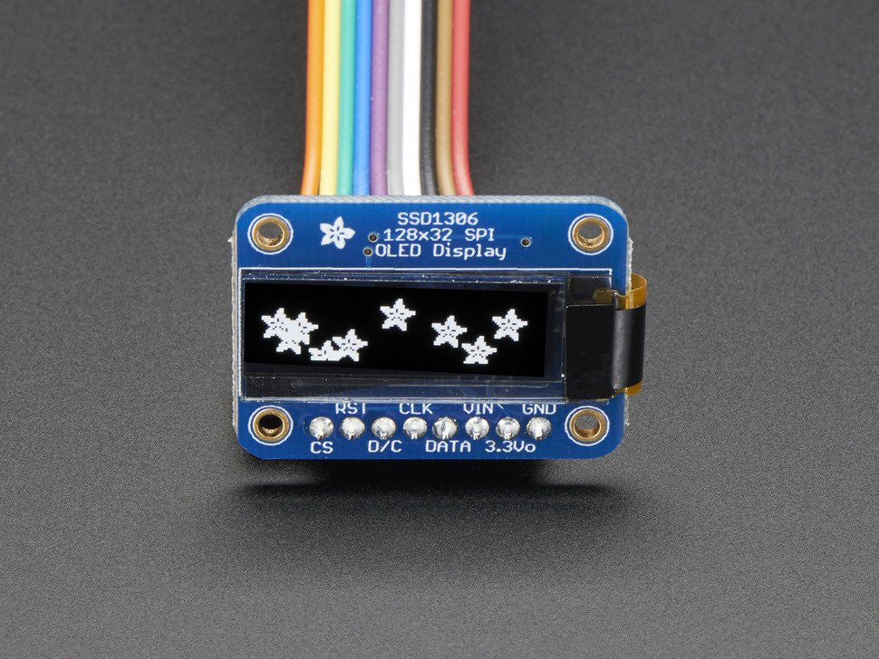 Monochrome 128x32 SPI OLED graphic display for Raspberry Pi or Arduino - Chicago Electronic Distributors  - 2
