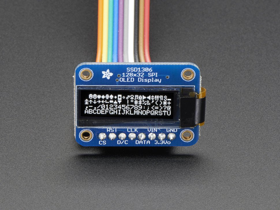 Monochrome 128x32 SPI OLED graphic display for Raspberry Pi or Arduino - Chicago Electronic Distributors  - 6