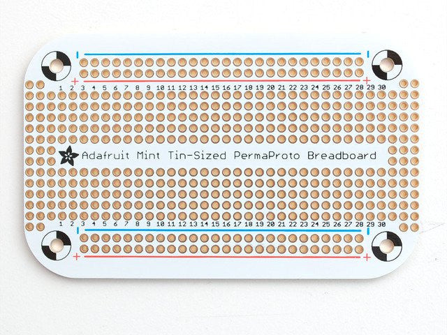 Adafruit Perma-Proto Mint Tin Size Breadboard PCB - Chicago Electronic Distributors