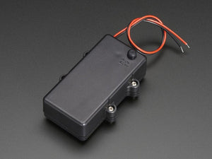 Waterproof 2xAA Battery Holder with On/Off Switch - Chicago Electronic Distributors