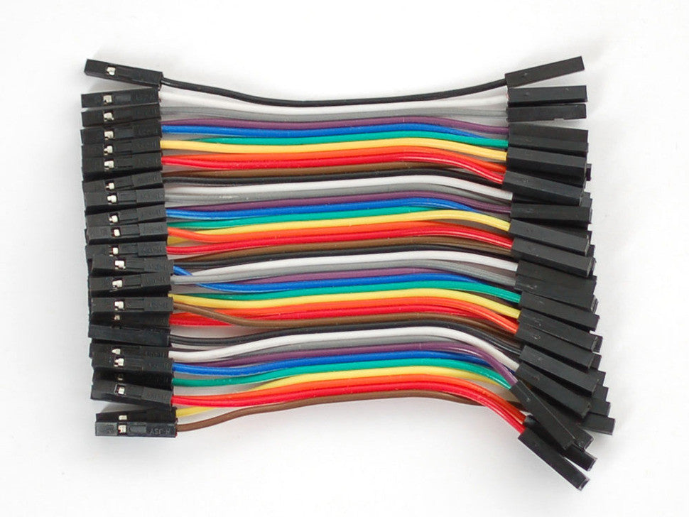 "Premium Female/Female Jumper Wires - 40 x 3"" (75mm) - Chicago Electronic Distributors  - 2"