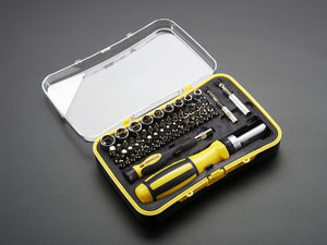 65 Piece Ratchet Screwdriver and Tool Bit Set - Chicago Electronic Distributors