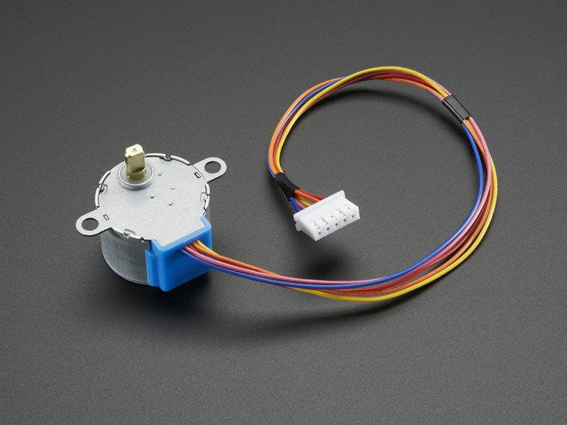 Small Reduction Stepper Motor - 5VDC 32-Step 1/16 Gearing - Chicago Electronic Distributors