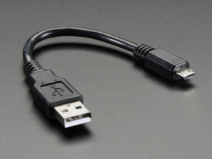 "USB cable - 6"" A/MicroB - Chicago Electronic Distributors"
