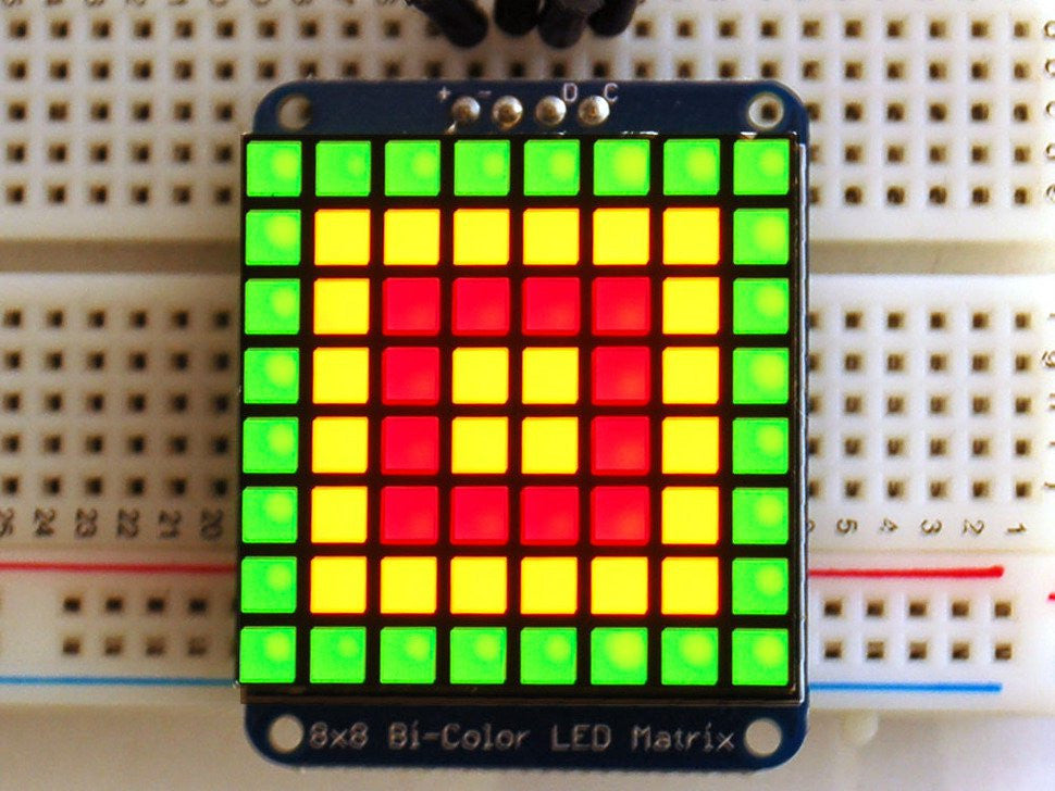 Adafruit Bicolor LED Square Pixel Matrix with I2C Backpack - Chicago Electronic Distributors  - 3