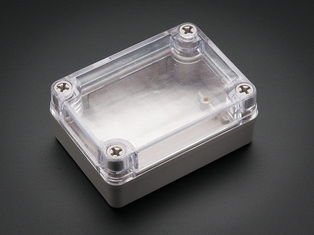 Small Plastic Project Enclosure - Weatherproof with Clear Top - Chicago Electronic Distributors