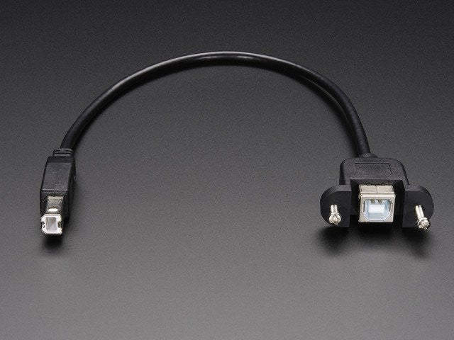 Panel Mount USB Cable - B Male to B Female - Chicago Electronic Distributors