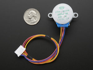 Small Reduction Stepper Motor - 12VDC 32-Step 1/16 Gearing - Chicago Electronic Distributors  - 2