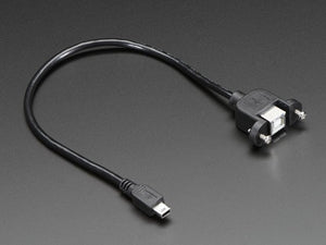 Panel Mount USB Cable - B Female to Mini-B Male - Chicago Electronic Distributors