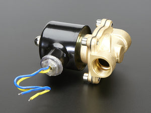 Brass Liquid Solenoid Valve - 12V - 1/2 NPS - Chicago Electronic Distributors