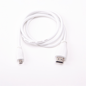 Raspberry Pi micro-HDMI to standard HDMI Cable, 1 to 2 meter, White or Black