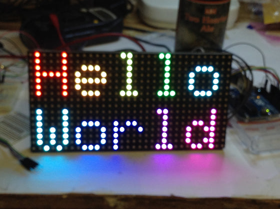Adafruit 16x32 LED Display - Chicago Electronic Distributors  - 1