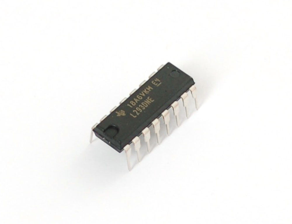 Dual H-Bridge Motor Driver for DC or Steppers - 600mA - L293D - Chicago Electronic Distributors