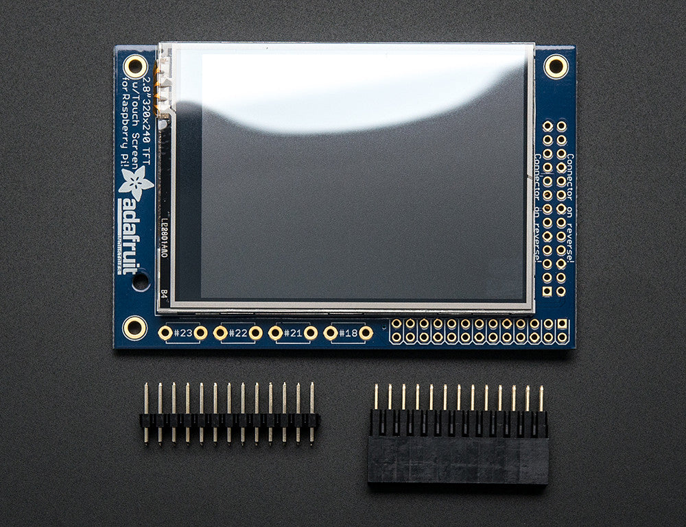 "PiTFT Mini Kit - 320x240 2.8"" TFT+Touchscreen for Raspberry Pi - Chicago Electronic Distributors  - 3"
