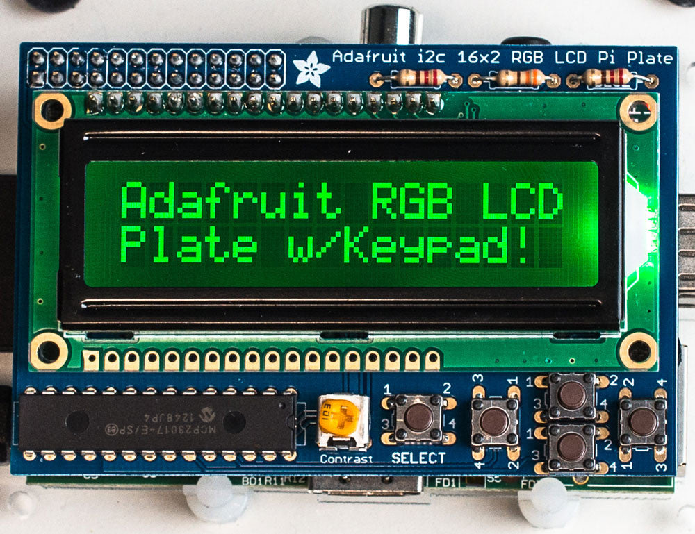 Adafruit RGB Negative 16x2 LCD+Keypad Kit for Raspberry Pi - Chicago Electronic Distributors  - 1