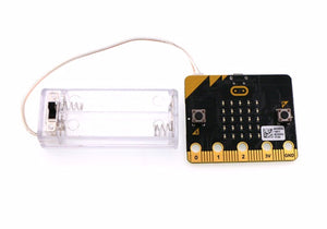 Clear AAA Battery Box with On/Off Switch for micro:bit