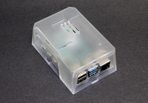Raspberry Pi 4 Model B 8GB in Clear SecurePi Case