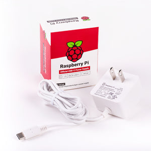Raspberry Pi 4 Power Supply in White
