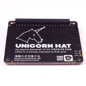 Pimoroni Unicorn Hat - 8x8 RGB LED Shield for Raspberry Pi A+/B+ - Chicago Electronic Distributors  - 2