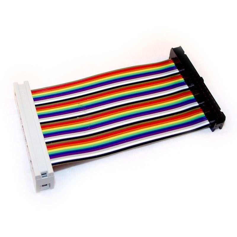 40 Way GPIO Rainbow Extender Cable - Male to Female - Chicago Electronic Distributors  - 3