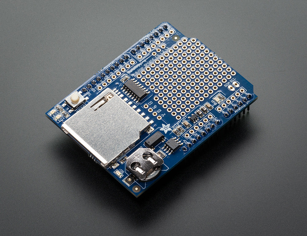 Adafruit Assembled Data Logging shield for Arduino - Chicago Electronic Distributors  - 1