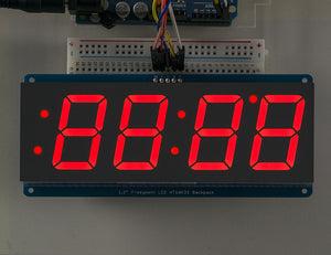 "Adafruit 1.2"" 4-Digit 7-Segment Display w/I2C Backpack - Red - Chicago Electronic Distributors  - 1"