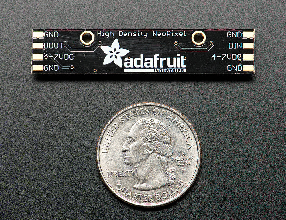 Adafruit NeoPixel Stick for Arduino- 8 x WS2812 5050 RGB LED with Integrated Drivers - Chicago Electronic Distributors  - 3